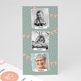 Einlegekarte Anniversaire adulte Foto Trio