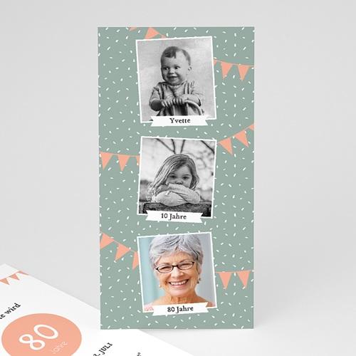 80 Jahre Alt Einladungskarten Geburtstag Foto Trio