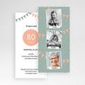 80 Jahre Alt Einladungskarten Geburtstag Foto Trio pas cher