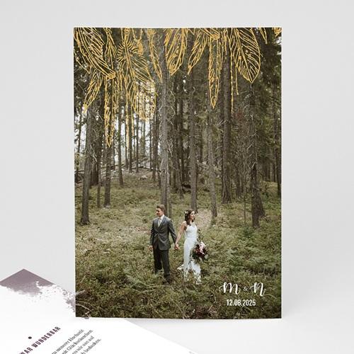 Dankeskarten Hochzeit mit Foto - Heart Wood 59173 thumb