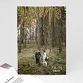 Dankeskarten Hochzeit mit Foto Heart Wood