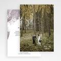 Dankeskarten Hochzeit mit Foto Heart Wood gratuit