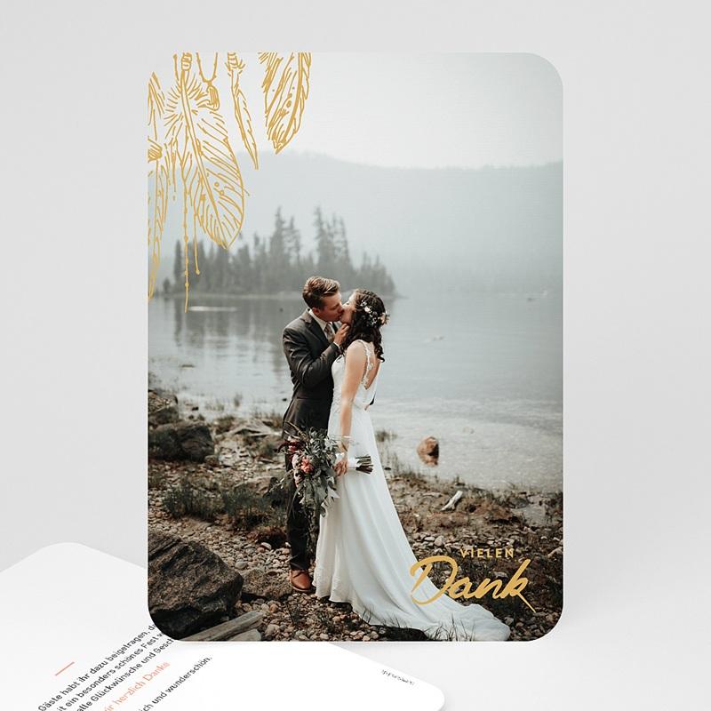 Dankeskarten Hochzeit mit Foto - Boho Natur 59182 thumb