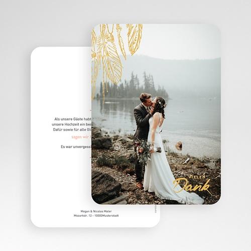 Dankeskarten Hochzeit mit Foto - Boho Natur 59184 thumb