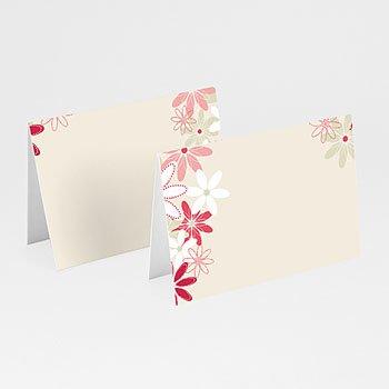 Tischkarten Hochzeit personalisiert - Hochzeitskarten Blumen - 1