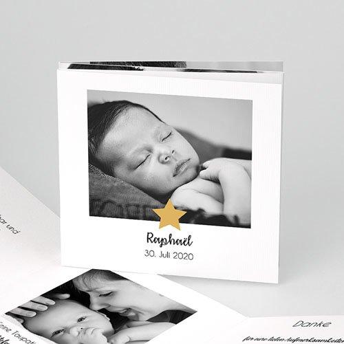 Geburtskarten für Jungen Goldstern