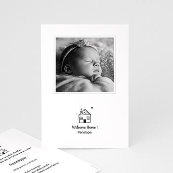 Geburtskarten für Mädchen - Sweet Home - 0