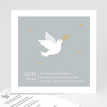 Einladungskarten Taufe Jungen  - Kleine Taube - 0