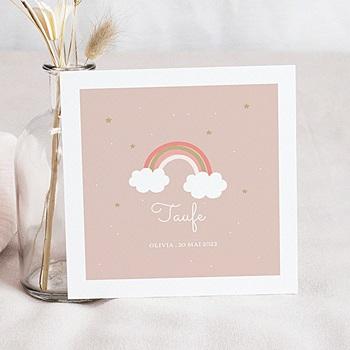 Einladungskarten Taufe Mädchen - Regenbogen - 0