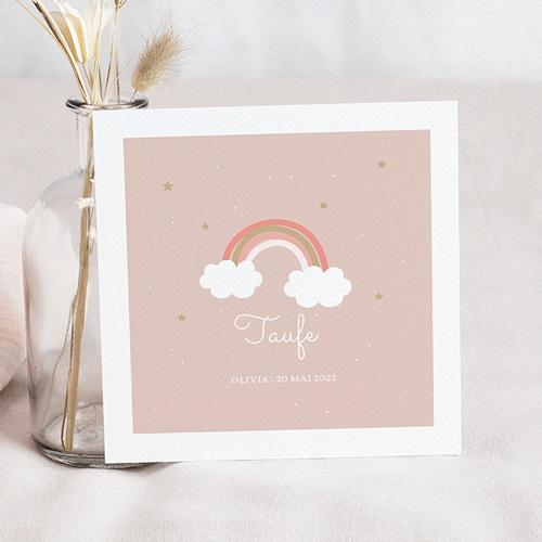 Einladungskarten Taufe Mädchen Regenbogen