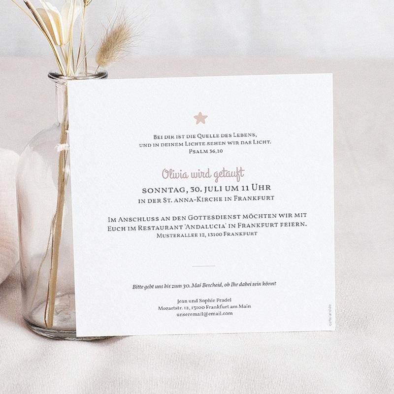 Einladungskarten Taufe für Mädchen Regenbogen pas cher