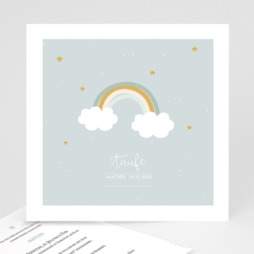 Einladungskarten Taufe Jungen  - Rainbow 59248 thumb