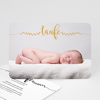 Einladungskarten Taufe Jungen  - Taufe in Gold - 0