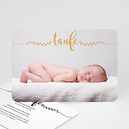 Einladungskarten Taufe Jungen  Taufe in Gold