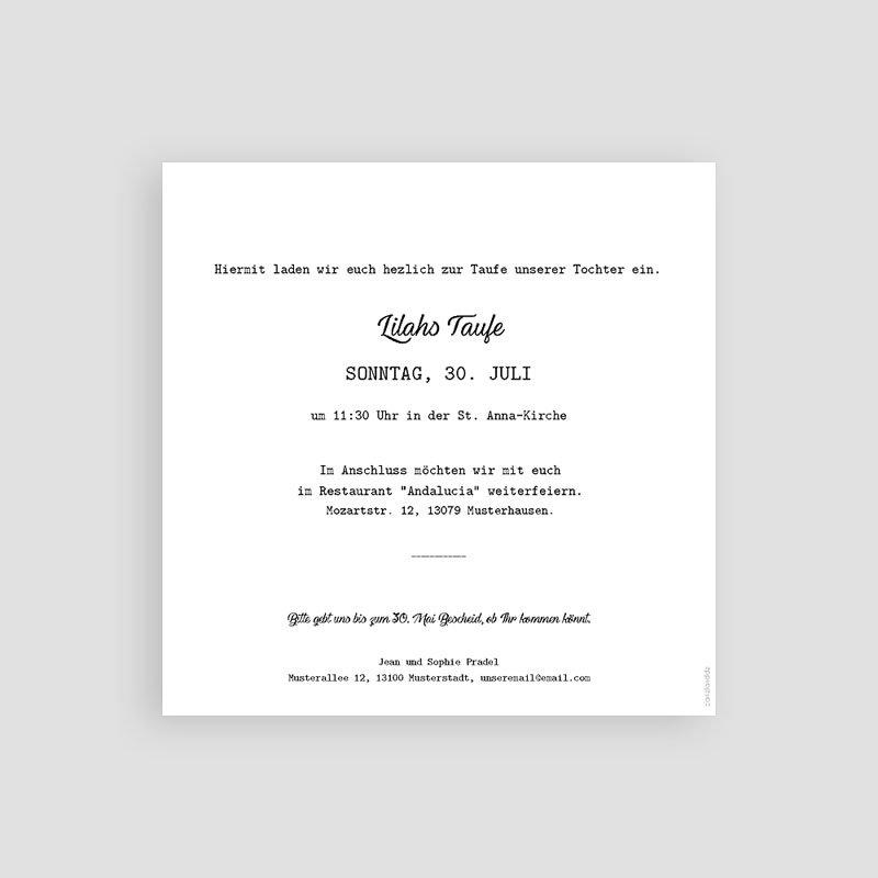 Einladungskarten Taufe Mädchen - Kreuz und Gold 59267 thumb