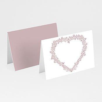 Tischkarten Hochzeit personalisiert - Hochzeitskarte Herz - 1