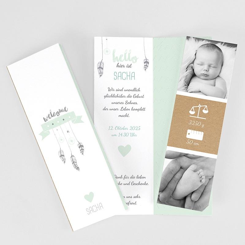 Geburtskarten für Jungen Traumfänger Boy