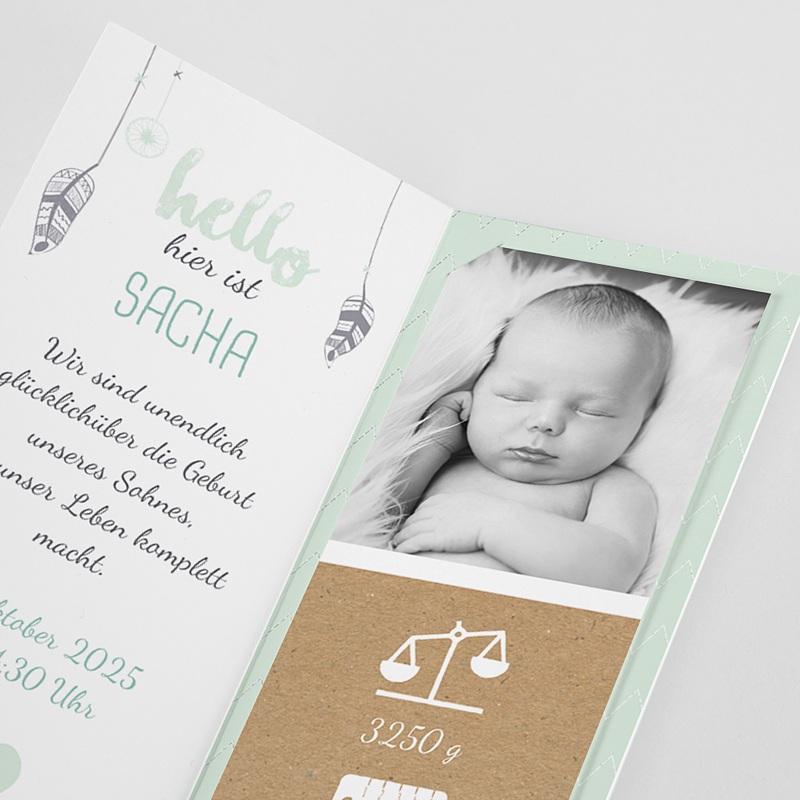 Geburtskarten für Jungen Traumfänger Boy pas cher