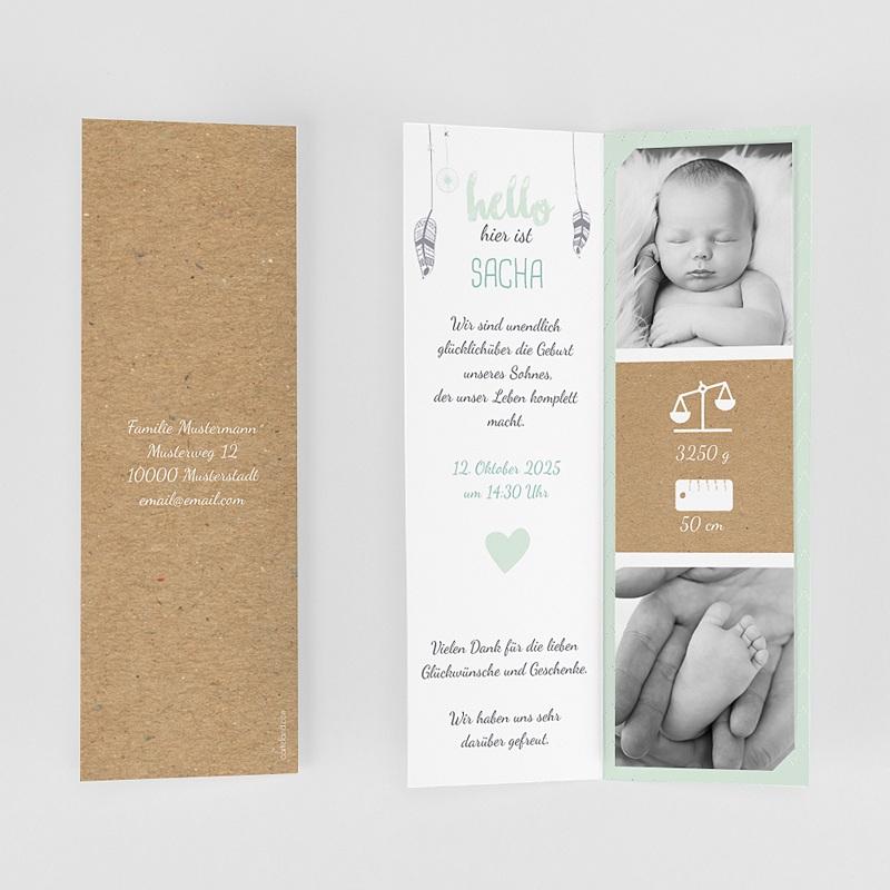 Geburtskarten für Jungen Traumfänger Boy gratuit