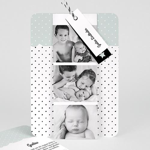 Geburtskarten mit Fotos Pastell-Mint