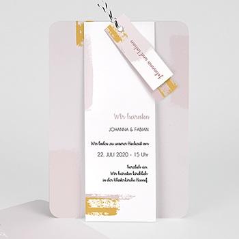 Kreative Hochzeitskarten - Rose Quarz - 0