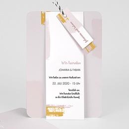 Kreative Hochzeitskarten Rose Quarz