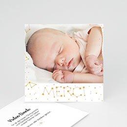 Danksagungskarten Geburt Konstellation Pastell