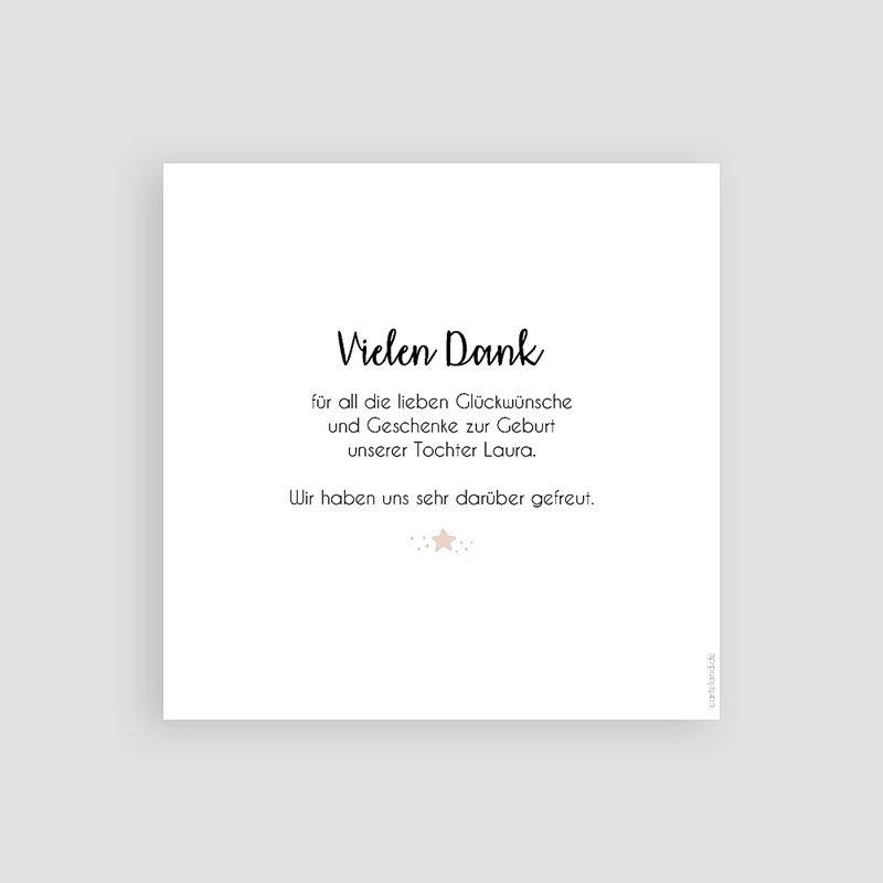 Dankeskarten Geburt Mädchen - Konstellation Pastell 59336 thumb
