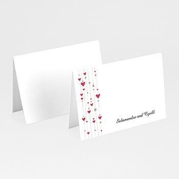 Tischkarten Hochzeit personalisiert - Hochzeitskarte Paris - 1