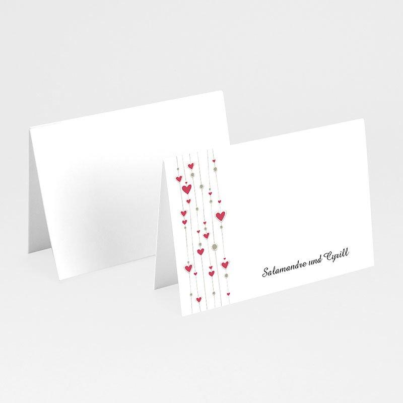 Tischkarten Hochzeit personalisiert Paris