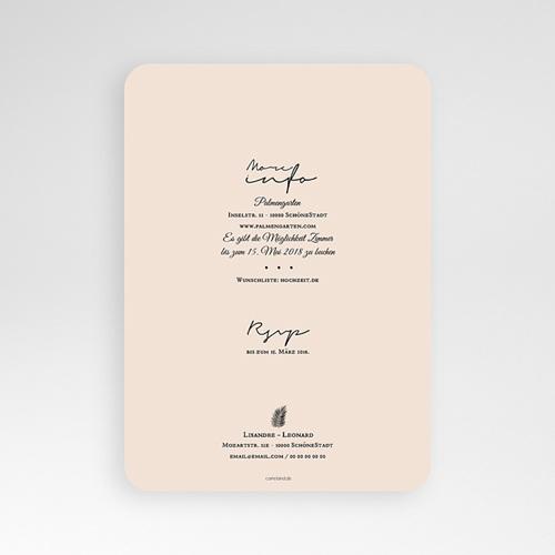 Hochzeitseinladungen Palmenblatt Gold pas cher