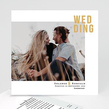 Kreative Hochzeitskarten - Photo & Typo - 0