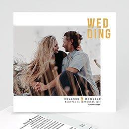 Einladungskarten Hochzeit  Photo & Typo