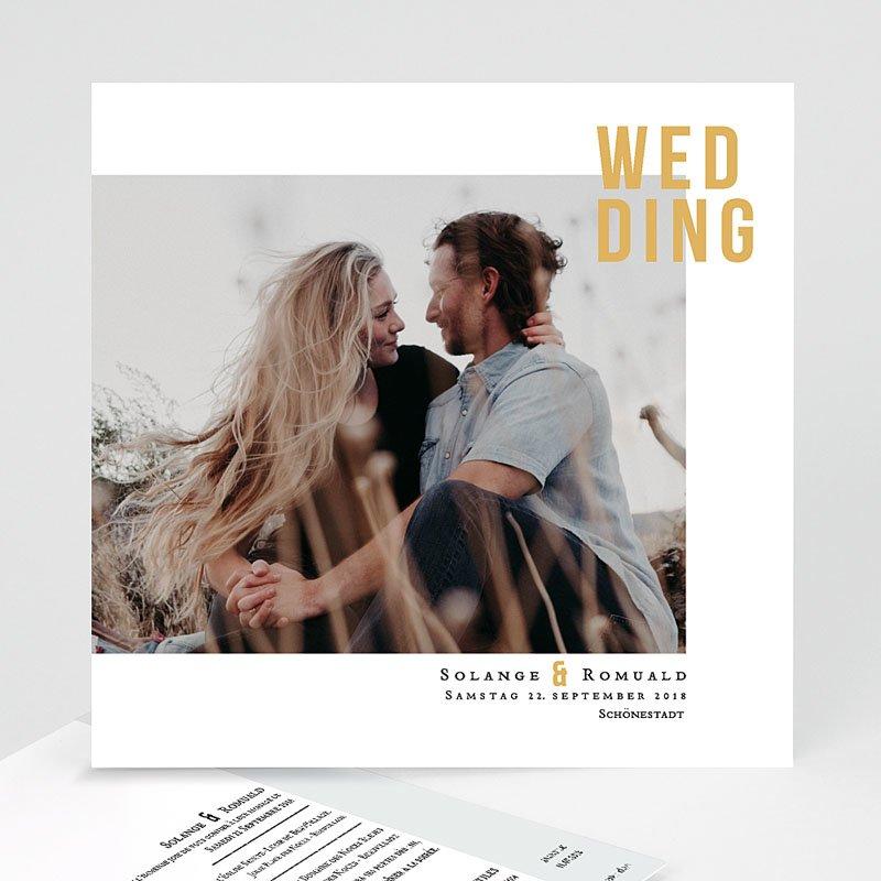 Hochzeitseinladungen Photo & Typo