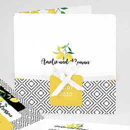Einladungskarten Hochzeit  Citrusfarben