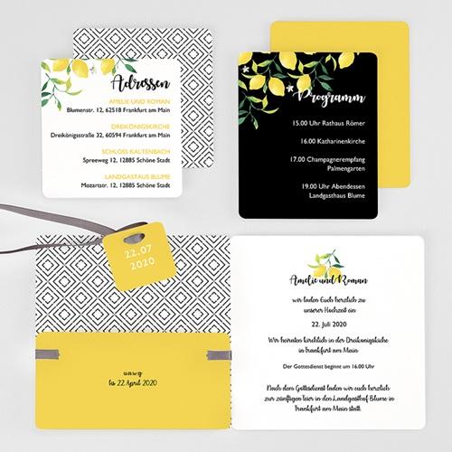 Hochzeitseinladungen Citrusfarben gratuit