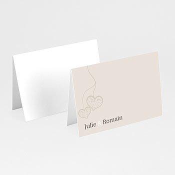 Tischkarten Hochzeit personalisiert - Hochzeitskarte Herz pur - 1