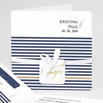 Einladungskarten Hochzeit  - Streifen - 0