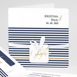 Einladungskarten Hochzeit  Streifen