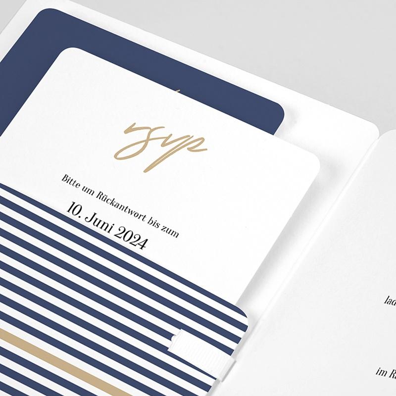 Einladungskarten Hochzeit  - Streifen 59477 thumb
