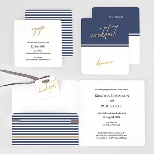 Einladungskarten Hochzeit  - Streifen 59478 thumb