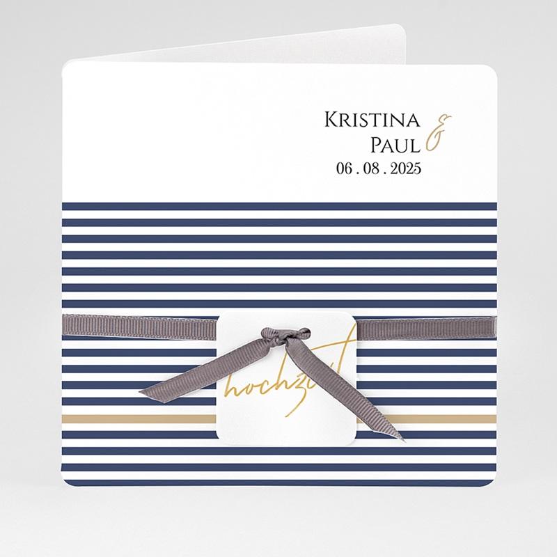 Einladungskarten Hochzeit  - Streifen 59479 thumb