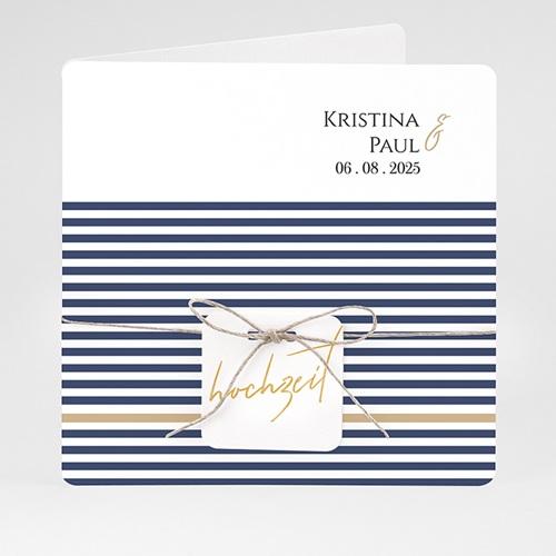 Einladungskarten Hochzeit  - Streifen 59480 thumb