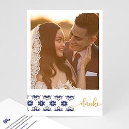 Danksagungskarten Hochzeit Ottomane Blau