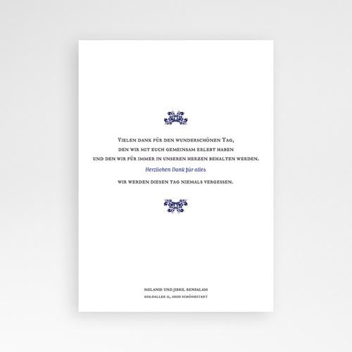 Orientalische Dankeskarten Hochzeit Ottomane Blau pas cher