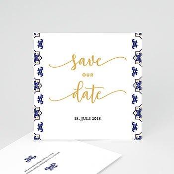 Save The Date  - Ottomane Blau - 0