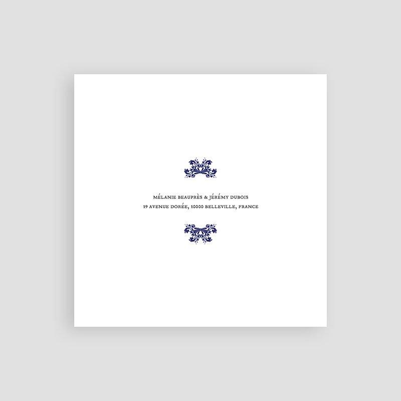 Save The Date Karten Hochzeit Ottomane Blau pas cher