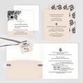 Hochzeitseinladungen Black Flowers Pastel gratuit