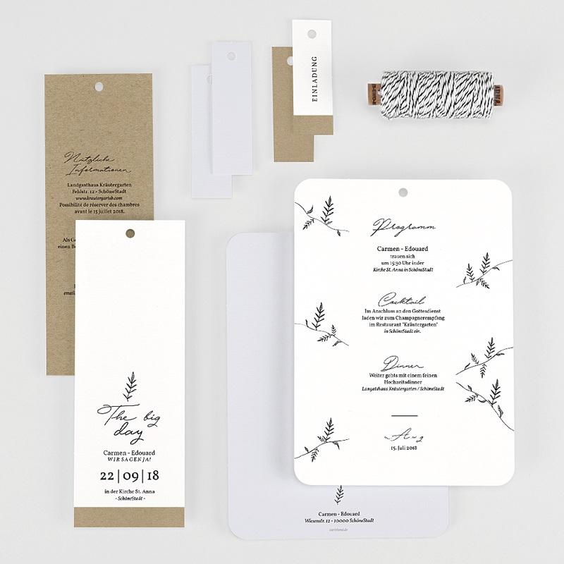 Hochzeitseinladungen Herbal Love gratuit