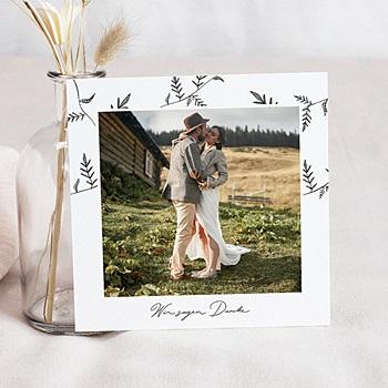 Dankeskarten Hochzeit mit Foto - Herbal Love - 0